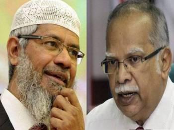 Zakir Naik (kiri) dan Ramasamy