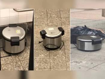 Penemuan tiga periuk nasi kosong gemparkan penduduk New York semalam.