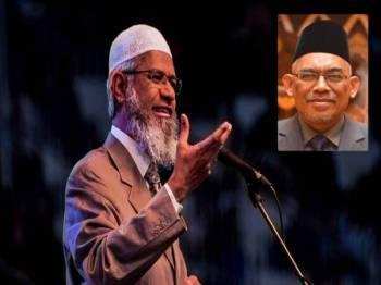 Zakir Naik. Gambar kecil:Dr Ismail Salleh