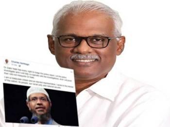 Charles menerusi hantaran di Facebooknya semalam menegaskan Zakir berhak membuat laporan polis berhubung dakwaannya