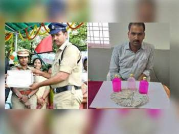 Palle Thirupati Reddy yang menerima anugerah konstabel cemerlang ditahan kerana rasuah. - Foto UnitedPunjabfc.com