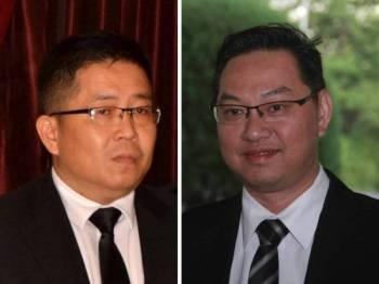Tan Chen Choon (kiri) dan Jimmy Puah Wee Tse.