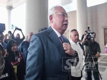 Bekas Perdana Menteri, Datuk Seri Najib Razak hadir di Mahkamah Tinggi Kuala Lumpur hari ini. - Foto Sinar Harian ZAHID IZZANI