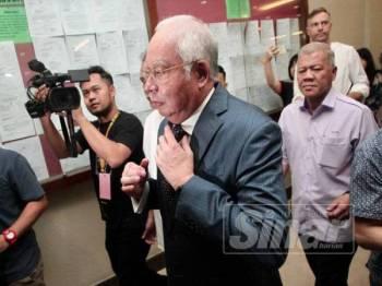 Najib Razak hadir di Mahkamah Tinggi Kuala Lumpur hari ini. - Foto Sinar Harian ZAHID IZZANI