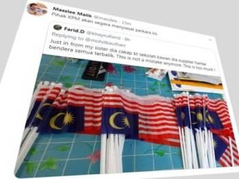 Maszlee melalui ciapan di Twitter miliknya memaklumkan KPM akan menyiasat insiden bendera Jalur Gemilang terbalik yang dibekalkan ke sekolah.