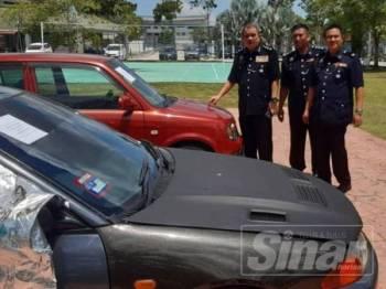 Polis turut menyita sebuah kereta jenis Proton Satria dan Perodua Kelisa daripada suspek.