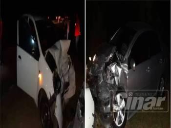Kemalangan tersebut menyebabkan seorang wanita maut manakala suami dan dua lagi anaknya mengalami kecederaan di Kilometer 132.5 Jalan Kuantan - Segamat, semalam.