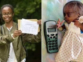 Aliyah (gambar terkini) pernah mendapat jolokan bayi terkecil sama saiz dengan telefon bimbit, 16 tahun lalu. - Daily Star