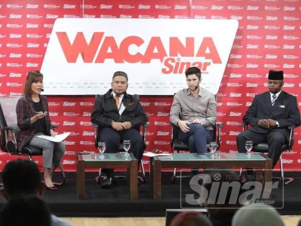 Wacana Sinar ke-122 membincangkan Malaysia Dari Kaca Mata Merdeka yang berlangsung di Dewan Karangkraf Seksyen 15 Shah Alam. Foto: Sinar Harian ASRIL ASWANDI SHUKOR