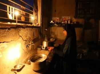 Aktiviti harian penduduk Palestin terjejas akibat catuan bekalan kuasa