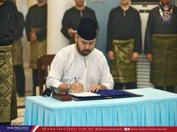 Tunku Ismail ketika dilantik sebagai Pemangku Raja pada 11 Ogos lepas.