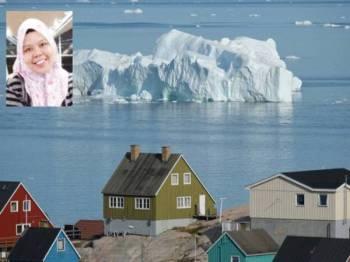 Nilai tinggi Greenland jadi rebutan. Gambar kecil; Marlissa Kamal.