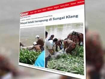 Semalam, Sinar Harian melaporkan penduduk Kampung Tengah terkejut menemui mayat seorang lelaki terapung di Sungai Klang berhampiran jalan utama ke kampung berkenaan.
