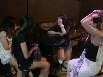 Antara warga asing yang ditahan disyaki bekerja sebagai GRO pusat hiburan.