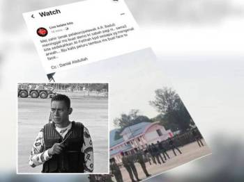 Allahyarham Mejar Mohd Zahir Armaya terkena tembakan ketika melakukan demonstrasi keupayaan Tentera Darat di Kem Lok Kawi, Kota Kinabalu, Sabah.
