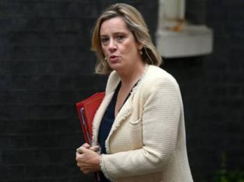 Amber Rudd umum peletakan jawatan sebagai protes terhadap cara Perdana Menteri Britain, Boris Johnson tangani isu Brexit. - Foto AFP