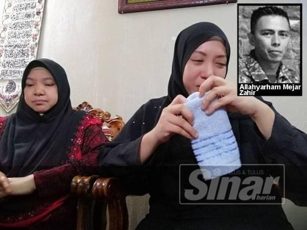 Nour Shafinar ditemani ibunya, Saloma Ahmad pada sidang media hari ini.