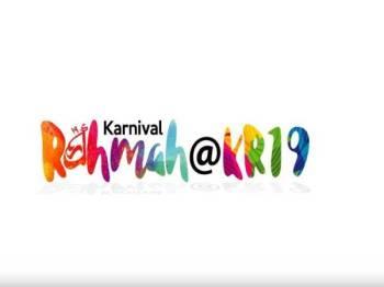 Program Karnival Rahmah 2019 (KR19) bakal berlangsung di Dataran Putrajaya pada 27 hingga 29 September ini.