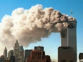 Serangan pengganas pada 11 September 2001 -Foto Getty Images/Robert Giroux