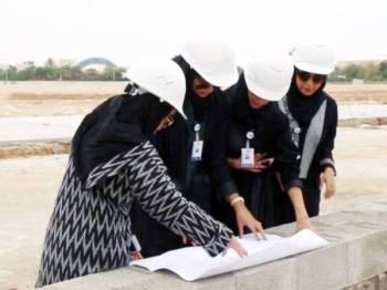 Lima jurutera wanita telah dilantik bagi mengindahkan lagi bandar Jeddah.
