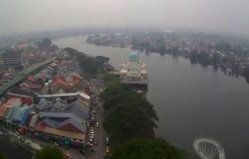 Bandaraya Kuching masih diselubungi jerebu -Foto Bernama