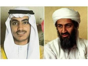 Hamza Laden (kiri) dilaporkan meninggal dunia dalam serangan keganasan AS.