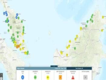 Operasi pembenihan awan yang dilakukan di tiga negeri di Semenanjung tengah hari tadi.