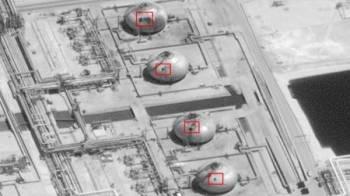 Infrastruktur di kemudahan minyak Abaqaiq yang musnah akibat serangan dron pada Sabtu lalu.