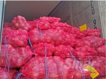 Bawang antara keluaran pertanian yang dirampas Maqis Pulau Pinang.