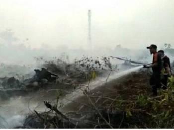 Kebakaran hutan di Pekanbaru, Riau.- Foto: Kompas