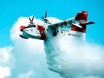 Pesawat Bombardier -Foto Bernama