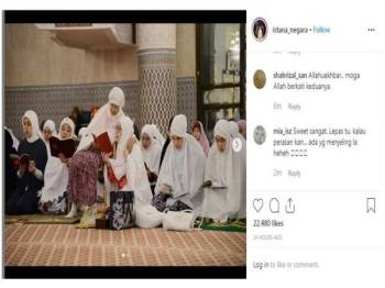 Tunku Azizah bersama Dr Siti Hasmah ketika membaca Yasin semalam menarik perhatian ramai netizen.