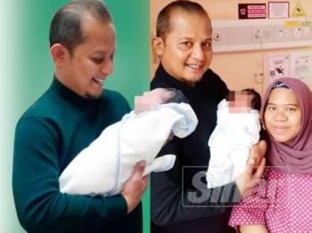 Abil Fikri bersama isteri dan anak sulungnya. Gambar ihsan Abil Fikri