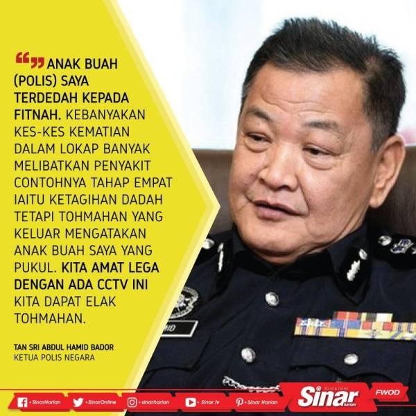 qoute ketua polis negara