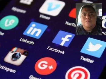 LEDAKAN teknologi terkini dalam aplikasi media sosial membolehkan pengguna berinteraksi dengan sesiapa sahaja yang dikehendaki, melangkaui sempadan sosial, jantina, umur dan tempat tinggal. Gambar kecil: KHAIRIL ANWAR