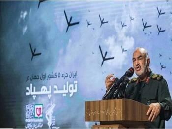 Salami menegaskan Iran sentiasa bersedia dalam apa jua situasi. - Foto Agensi