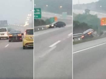 Pemanduan bahaya itu dirakam seorang pengguna jalan raya dan tular di media sosial.