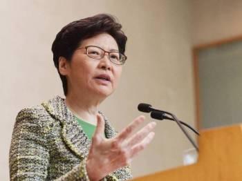 Ketua Eksekutif Hong Kong, Carrie Lam. - FOTO: AFP