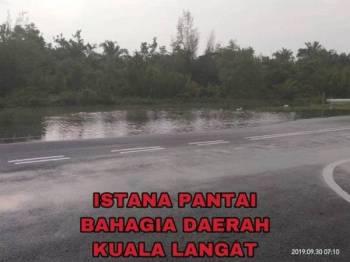 Keadaan sekitar Istana Pantai di Kuala Langat. - Foto: Unit Pengurusan Bencana Selangor