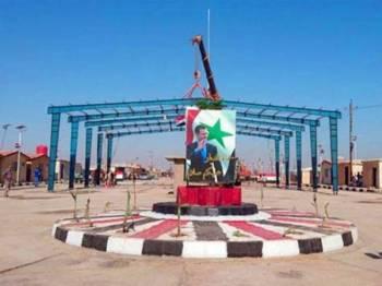 Sempadan antara al-Qa'im di Iraq dan Bukamal di Syria. - Foto Agensi