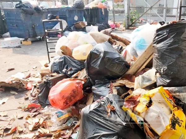 Keadaan pesekitaran rumah sampah itu yang kotor dan menjijikan selain bau yang meloyakan.