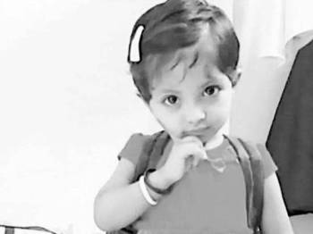 Jiya Ansari, 2, maut dicampak keluar dari tingkap pangsapuri. - Foto Indianexpress.com