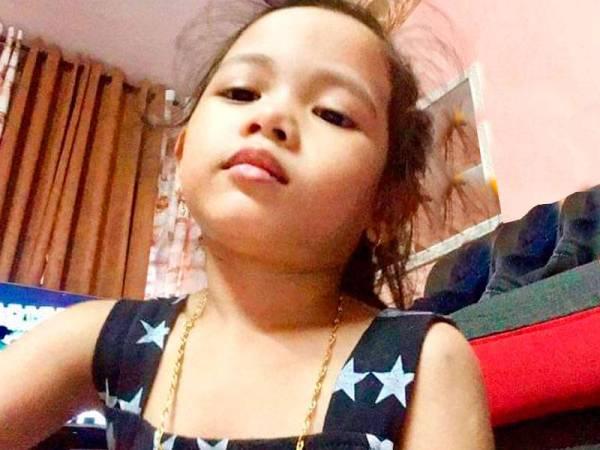 Rantai yang dipakai oleh anak Siti Haryani yang diragut baru-baru ini.