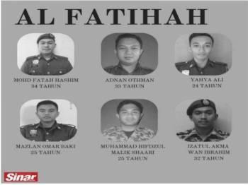 SHAH ALAM - Hari ini genap setahun pemergian enam anggota Bomba dan Penyelamat Malaysia disebabkan lemas semasa bertugas di Lombong Taman Putra Perdana, Puchong.
