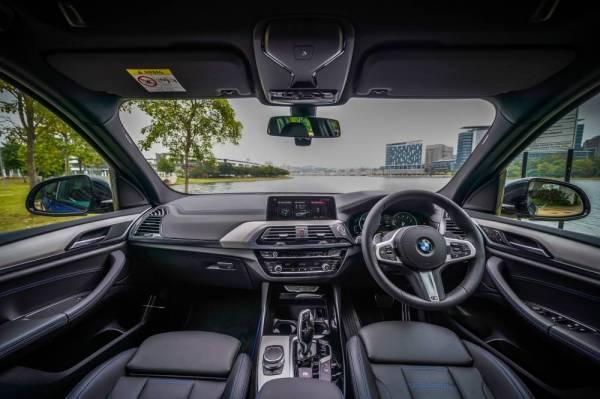 BAHAGIAN dalaman BMW X3 xDrive30i M Sport Pakej.