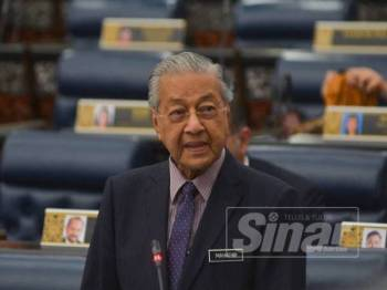 Tun Dr Mahathir - FOTO SHARIFUDDIN ABDUL RAHIM