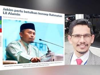 Tangkap layar mengenai berita berkenaan. Gambar kanan: Ali Muda