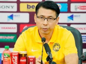 Cheng Hoe optimis para pemainnya mampu menewaskan Vietnam. - Foto Persatuan Bola Sepak Malaysia (FAM)  Foto: KAMARUL AKHIR / ASIANA.MY