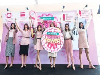 WATSONS mengambil inisiatif melancarkan Kempen Pink Power untuk meningkatkan kesedaran mengenai kanser payudara.