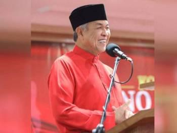 Ahmad Zahid ketika berucap merasmikan Konvensyen UMNO Perak di Bangunan UMNO Negeri Perak, di sini hari ini.  - Foto Facebook Ahmad Zahid Hamidi